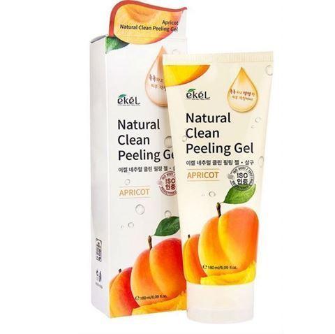Ekel Пилинг скатка для лица с абрикосом Apricot Natural Clean Peeling Gel  180 мл.