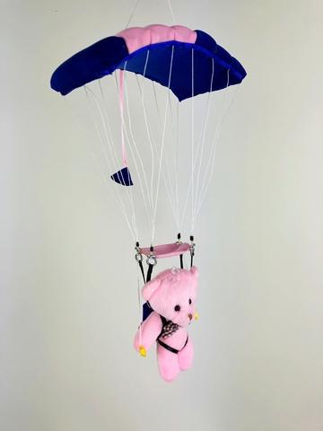 Сувенирная игрушка парашютист под куполом (большая)