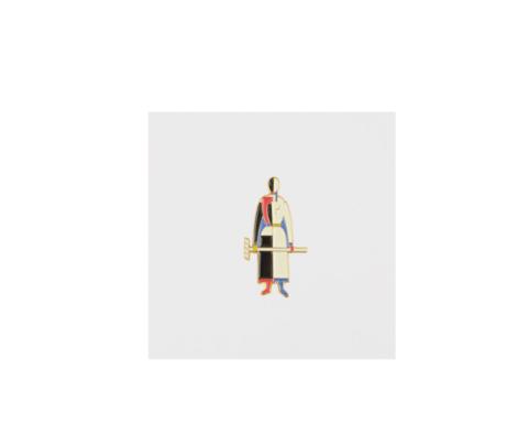 Значок металлический Авангард: Малевич. Женщина с граблями