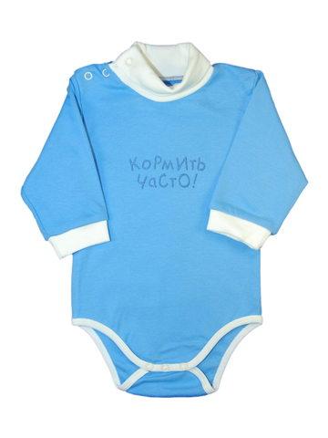 Боди синее для новорожденных