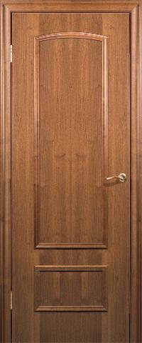Дверь Краснодеревщик ДГ 201, цвет тёмный орех, глухая