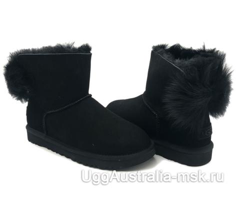UGG Bow Mini Fluff Boot Black