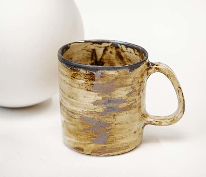 CUP117-2 Керамическая кружка ручной работы в глазури (200 мл)