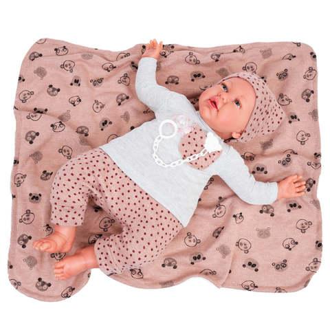 Munecas Antonio Juan Кукла-младенец Reborn Моника в розовом 52см (8165)