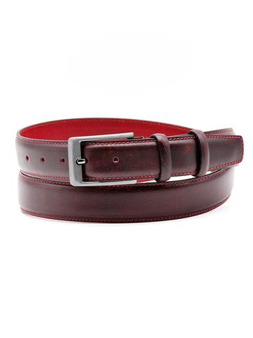 Ремень для брюк тёмно-бордовый Doublecity RC35-26-20