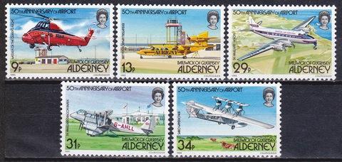 Alderney 1985 №18-22 **MNH