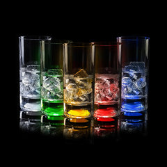 Светящийся бокал для коктейлей GlasShine, зеленый, фото 1