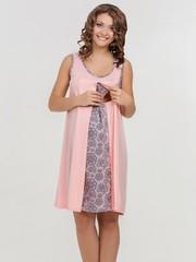 Vivamama. Сорочка для беременных и кормящих Nataly, персик вид 2