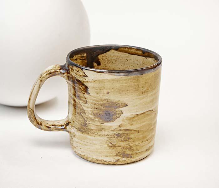 CUP117-2 Керамическая кружка ручной работы в глазури (200 мл) фото 02