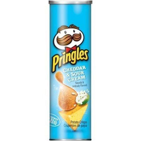 Чипсы Pringles Cheddar & Sour Cream Принглс Чеддер со сметаной 158 гр