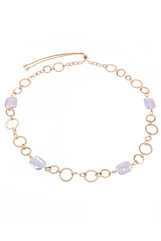 Ожерелье Aurora Metallo Tondo золотистое