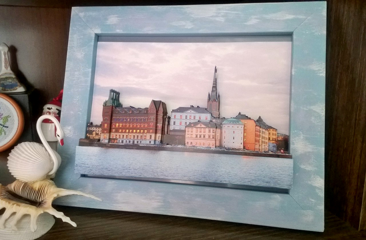 Папертоль Вечерний Стокгольм — пример оформленной работы.