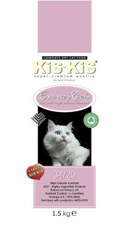 KiS-KiS Extra Rich Для взрослых кошек всех пород 1,5 кг.