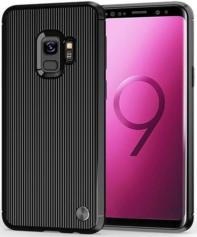 Чехол Samsung Galaxy S9 цвет Black (черный), серия Bevel, Caseport