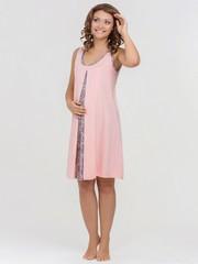 Vivamama. Сорочка для беременных и кормящих Nataly, персик вид 1