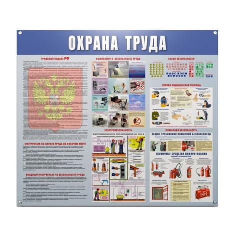 Информационный стенд настенный Охрана труда 91х70 см пластиковый