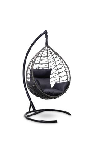Подвесное кресло-кокон ALICANTE черное + каркас + черная подушка