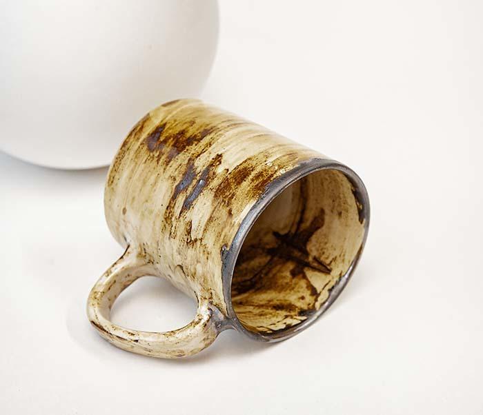 CUP117-2 Керамическая кружка ручной работы в глазури (200 мл) фото 03