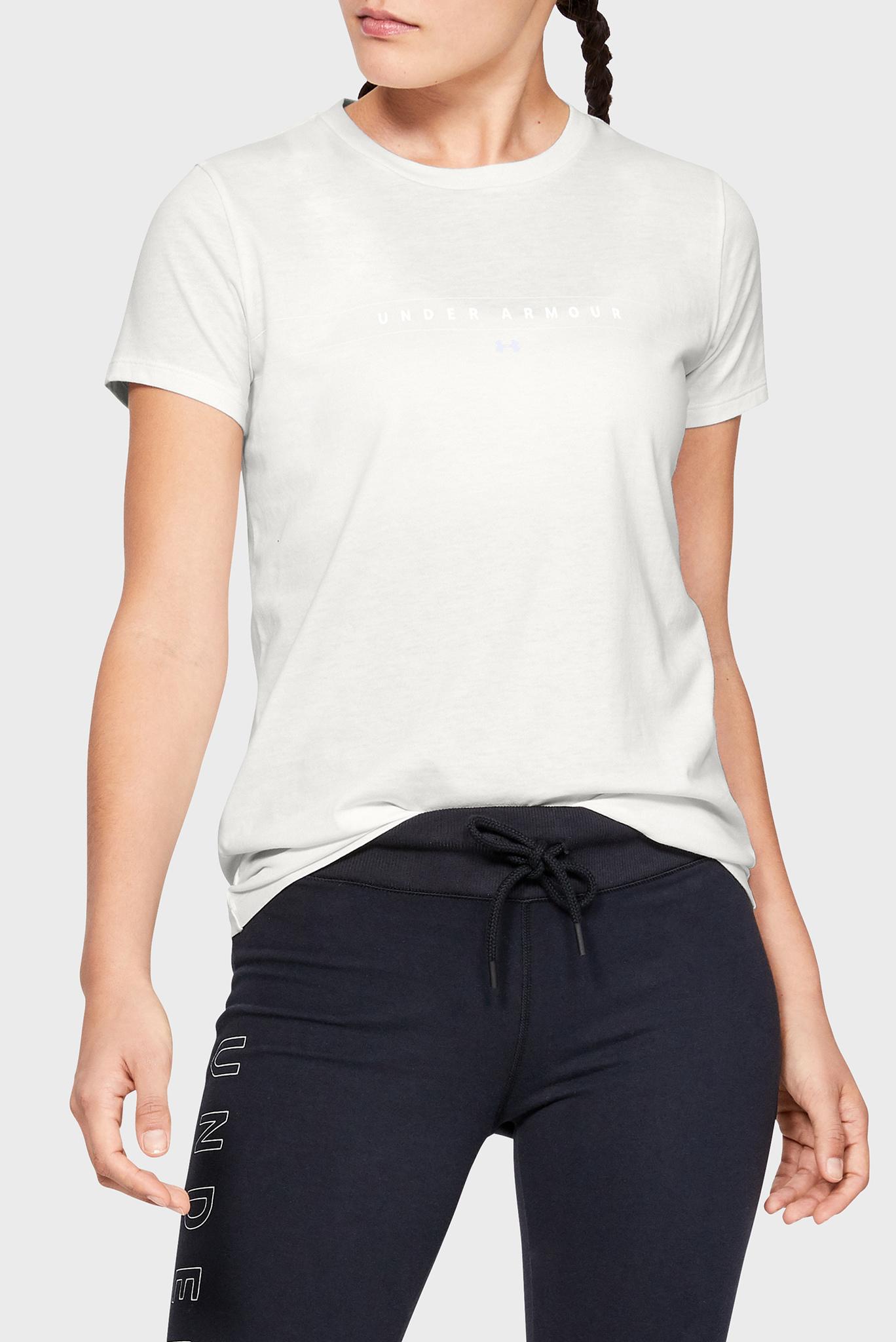 Женская белая футболка GRAPHIC WM CLASSIC CREW Under Armour