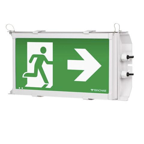 Аварийный светильник ВЫХОД промышленный HEAVY Exit IP65 Teknoware