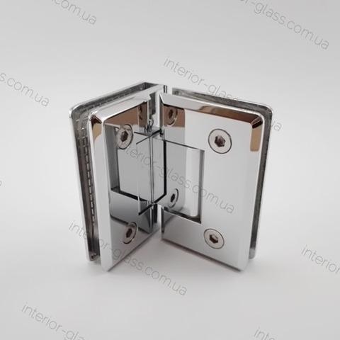 Петля душевая 90 градусов HDL-304 CP полированный хром