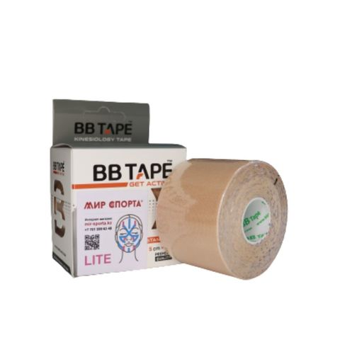 BBtape кинезио тейп Lite (лайт) 5см х 5м бежевый NEW