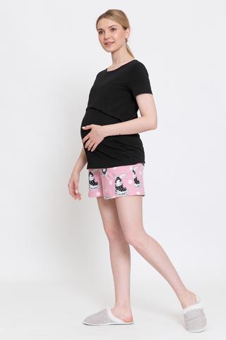 Пижама для беременных и кормящих 12911 черный