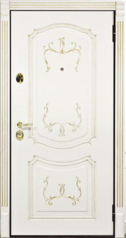 Дверь входная Бульдорс Premier 25 P-4 стальная, ясень с патиной, 2 замка