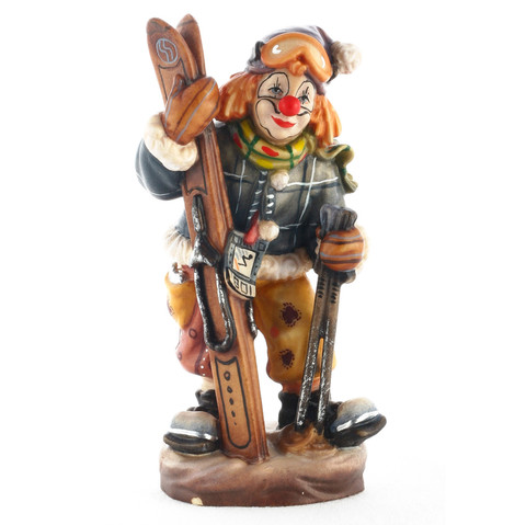 Клоун-лыжник