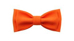 Однотонный галстук - бабочка (оранжевый)