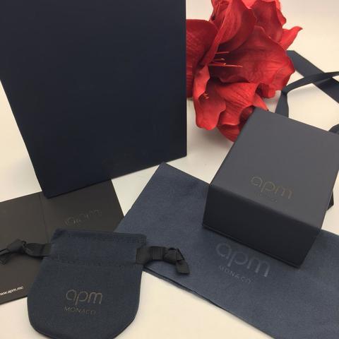 Комплект подарочной упаковки APM MONACO  (пакет+коробка+мешочек из бархата)