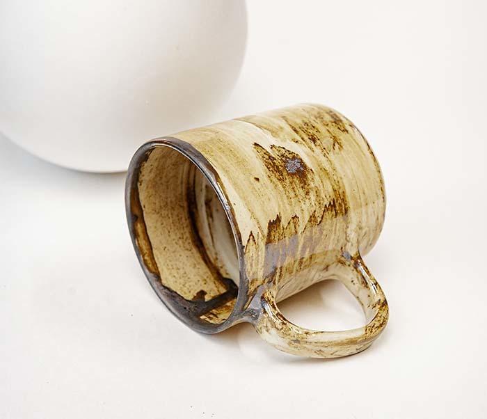 CUP117-2 Керамическая кружка ручной работы в глазури (200 мл) фото 04