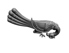 Силиконовый молд № 114/115 Птицы винтажные