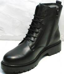 Осенние женские ботинки черного цвета Misss Roy 252-01 Black Leather.