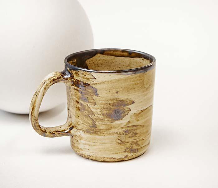 CUP117-2 Керамическая кружка ручной работы в глазури (200 мл) фото 05