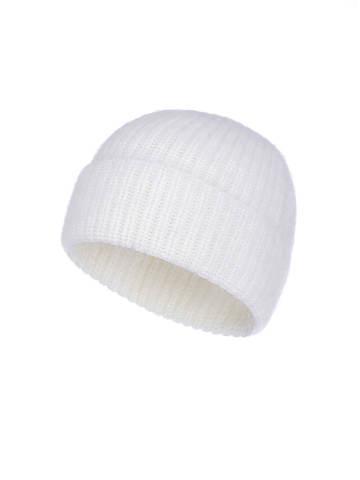 Женская шапка молочного цвета из ангоры - фото 1