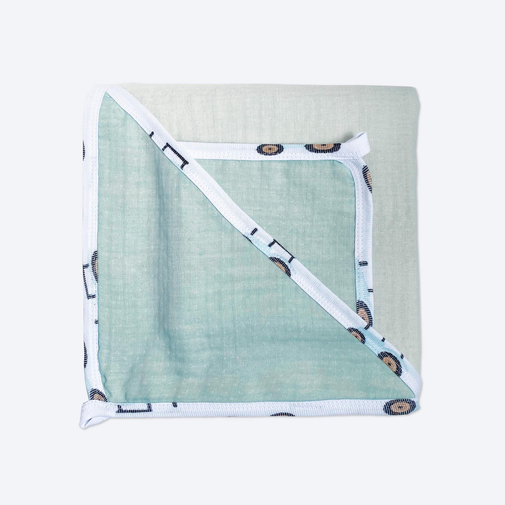 Комплект: Муслиновое полотенце с уголком и салфетка Mjölk Тиффани
