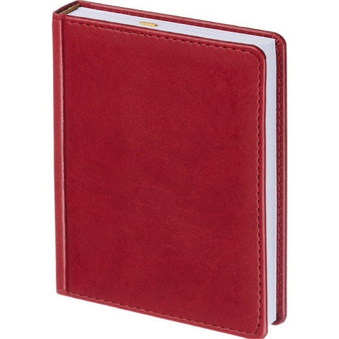 Ежедневник недатированный Attache Сиам искусственная кожа А6 176 листов бордовый (110x155 мм)
