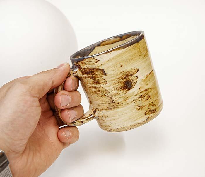 CUP117-2 Керамическая кружка ручной работы в глазури (200 мл) фото 06