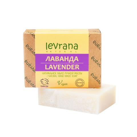 Мыло твердое ручной работы Лаванда, 100 гр (+/-10гр.)