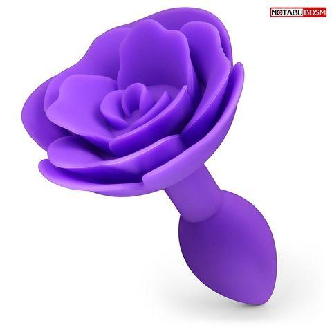 Фиолетовая гладкая анальная втулка-роза