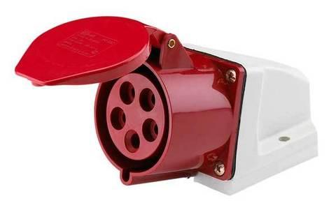 Розетка 115 стационарная 3Р+РЕ+N 16А 380В IP44 TDM