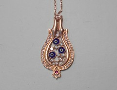 Ожерелье с рубином