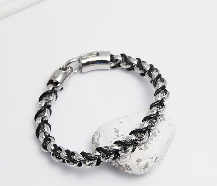 BM491 Мужской браслет цепь с необычными звеньями (22 см)