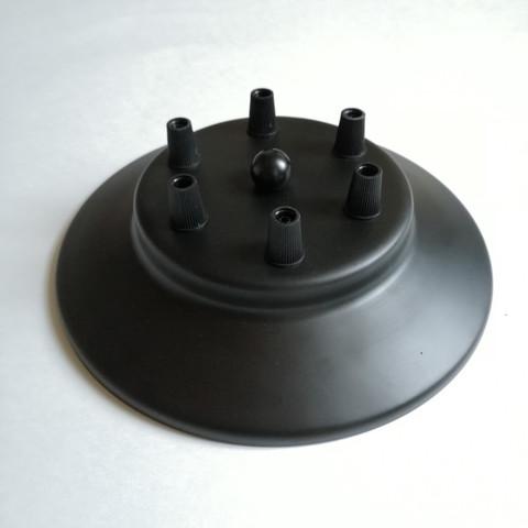 Чашка потолочная на 6 выводов (Черный)