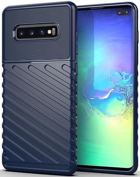 Чехол Samsung Galaxy S10 Plus цвет Blue (синий), серия Onyx, Caseport