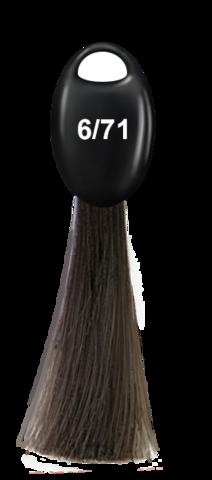 OLLIN N-JOY  6/71 – темно-русый коричнево-пепельный, перманентная крем-краска для волос 100мл