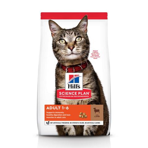 Корм Hill's Science Plan Adult Lamb Сухой корм для взрослых кошек для поддержания жизненной энергии и иммунитета с Ягненком 10 кг