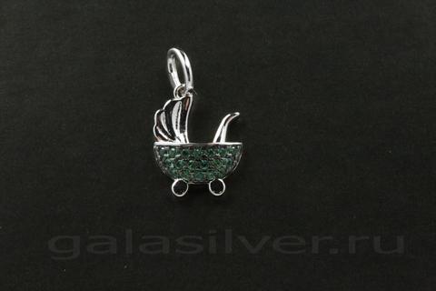 Подвеска с цирконом из серебра 925