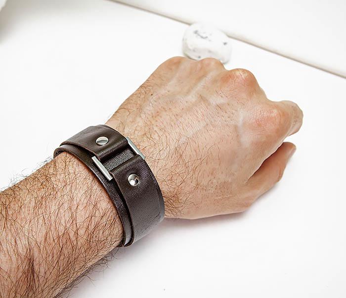 BL799-2 Мужской браслет напульсник ручной работы фото 06